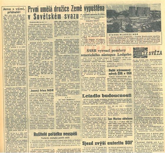 Vyvracíme pomluvy a vypuštíme družici. 6.10.1957