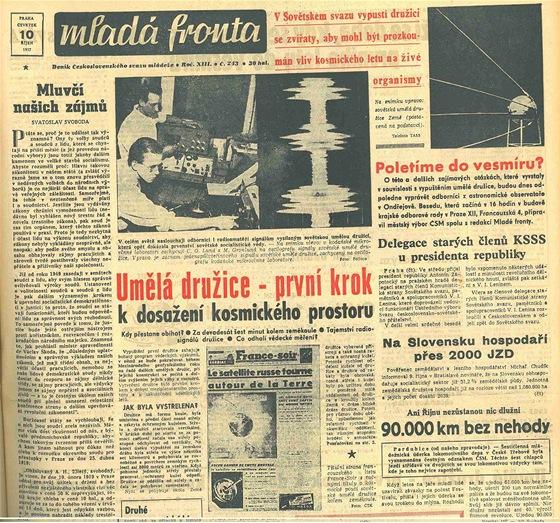 Titulní strana Mladé fronty z 10.10.1957