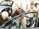 Den otevřených dveří v automobilce Škoda v Kvasinách.