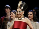 Premiéra muzikálu Aida: zleva Jiří Korn, Lucie Bílá a Dasha