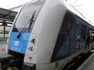 V Českých Budějovicích představily České dráhy novou vlakovou soupravu