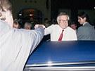 Václav Klaus se před dvaceti lety po půlnoci pozdravil těsně před odjezdem z