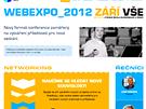 Stránky české konference WebExpo lákaly především na setkávání (networking)