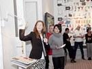 Johanna Jelinek v expozici IKEA na pražském Designbloku