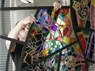 Pracovníci olomouckého Muzea umění a uměleckého atelieru dva dny obnovovali