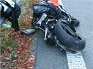 Pětatřicetiletý motorkář jel nedaleko Červenohorského sedla zřejmě příliš