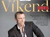 Titulní strana magazínu Víkend DNES na téma James Bond - Daniel Craig