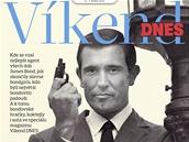 Titulní strana magazínu Víkend DNES na téma James Bond - George Lazenby
