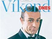 Titulní strana magazínu Víkend DNES na téma James Bond - Sean Connery