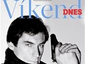 Titulní strana magazínu Víkend DNES na téma James Bond - Timothy Dalton