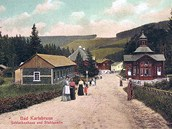 Malebná Karlova Studánka v roce 1907.