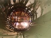 O složitých geologických podmínkách stanice Veleslavín světčí tato výztuž prvního pstence traťového tunelu, který vede na Červený vrch do budoucí stanice Bořislavka