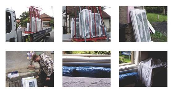 1) Nová okna přivezeme k vám na stavbu. 2)Okna jsou při přepravě důkladně