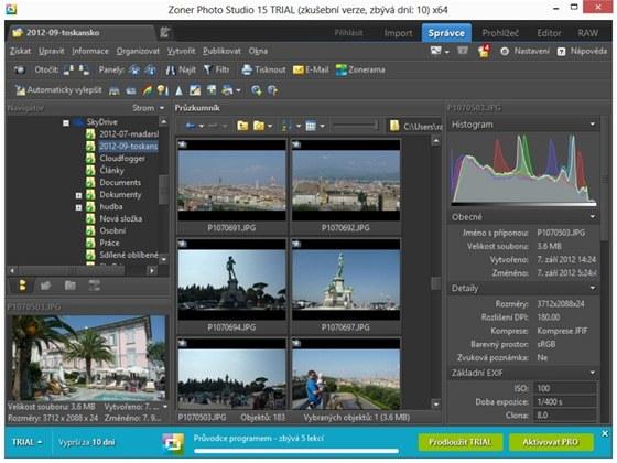 Zoner Photo Studio 15 přidává další nové funkce, jeho prostředí ovšem zůstává