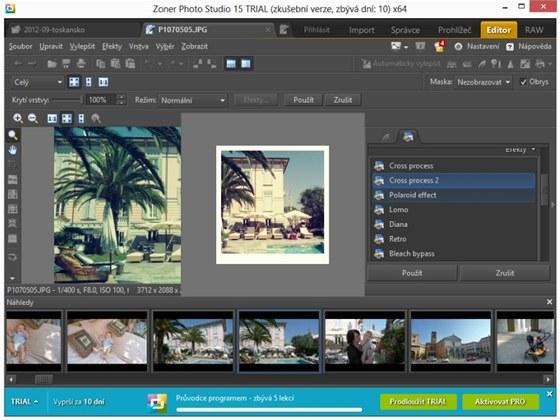 V novém panelu pro rychlé úpravy najdete funkce na korekci obrazu i mnoho