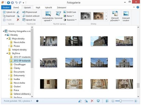 Program Fotogalerie z balíku Windows Essentials 2012 obsahuje mnoho funkcí, za