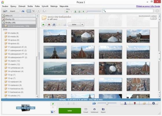 Aplikace Picasa nabídne mnoho zajímavých funkcí na třídění i úpravy fotografií,
