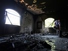 Konzulát Spojených států v Benghází po napadení ozbrojenci (13. září 2012)