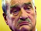 Předseda TOP 09 Karel Schwarzenberg ve volebním štábu strany v Praze (13. října