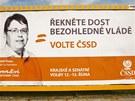 Billboard v Hradci Králové před krajskými volbami 2012.