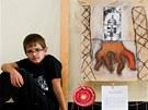 Jedenáctiletý David Markarjanc z Hradce Králové s vítězným obrázkem rakety.