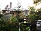 Po��r rodinn�ho domu v Nov�m Mal�n� na �umpersku, p�i kter�m se zranili dva