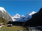 Pohled z údolí Kalsu na Grossglockner