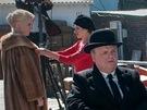 Z televizního filmu HBO The Girl, Toby Jones jako Alfred Hitchcock