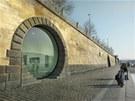 Galerie ve v�klenku - architektonick� n�vrh, jak vyu��t niky v n�b�e�n� zdi.