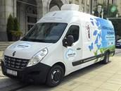 Vůz, která Ostrava nově využivá k měření koncentrací škodlivin v ovzduší a