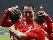 POSLAL RUSY DO VEDENÍ. Alexander Keržakov se raduje z gólu proti Portugalsku.