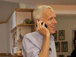 Brian Kobilka ve své kalifornské laboratoři na Stanfordské univerzitě 10. října