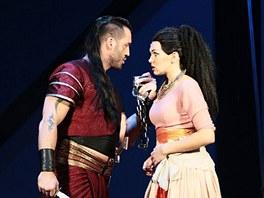 Kamila Nývltová v muzikálu Aida