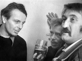 Svatopluk Karásek, Václav Havel a Pavel Landovský