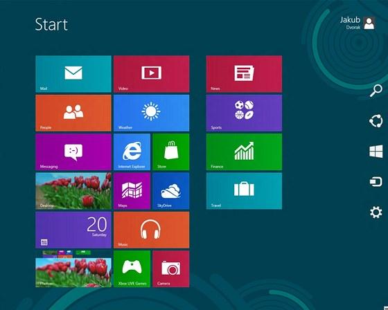 Windows 8 - postranní panel