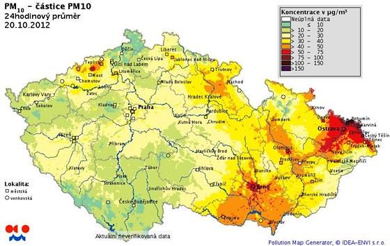 Mapa znečištění ovzduší