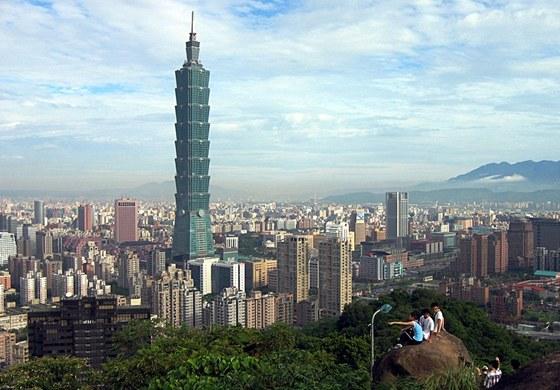 Mrakodrap Tchaj-Pej na Tchaj-wanu byl dokončený v roce 2004.
