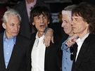 Kapela Rolling Stones na premi��e filmu Crossfire Hurricane (Lond�n, 18. ��jna