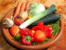 Přibližná dávka čerstvé zeleniny, kterou vitarián denně sní.