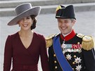 D�nsk� korunn� princ Frederik a princezna Mary