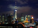 Světové finanční centrum vŠanghaji se stavěla více než deset let.