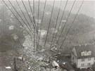 Letecký pohled na místo nehody letadla YU-AJO.