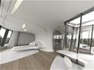 Vizualizace. Futuristické sídlo navrhla slavná architektka Zaha Hadid.