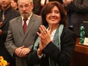 Marie Rottrová převzala ocenění za umělecký přínos Ostravě.