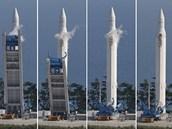 Start rakety KSLV-1 (nebo Naro-1) 25. srpna 2009