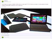 Jan Kužník si nový Surface hned vyzkoušel a podělil se o fotku s fanoušky
