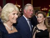 Kylie Minogue na party zazpívala princi Charlesovi a jeho manželce Camille.