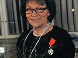 Zpěvačka Marta Kubišová převzala 29. října 2012 v budově francouzského...