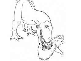 Po oddělení hlavy se dravec mohl pustit do jídla.