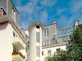 Střešní nástavba s výtahem, Mnichov